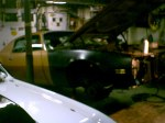 Ug's garage:Scene of many auto projects and tons of party's.
